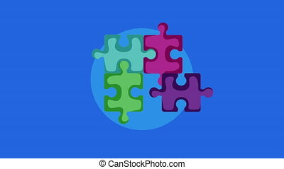 puzzle game pieces solution animation