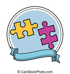 puzzle game pieces solution icons
