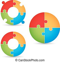 Puzzle - gears concept