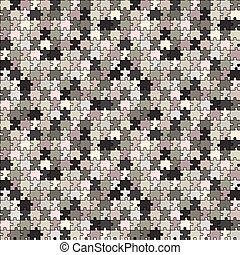 puzzle gray texture, abstract seamless pattern; vector art illustration