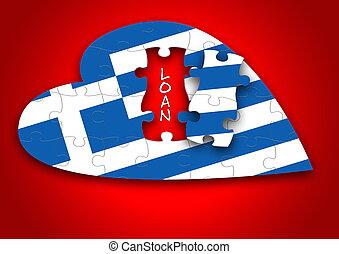 Puzzle Greece Flag