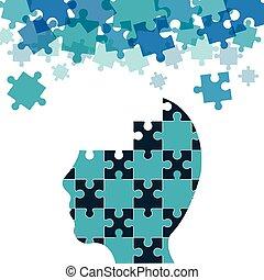 puzzle head teamwork support design