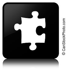Puzzle icon black square button