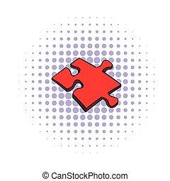 Puzzle icon, comics style