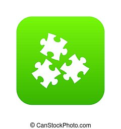 Puzzle icon digital green