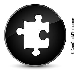 Puzzle icon elegant black round button