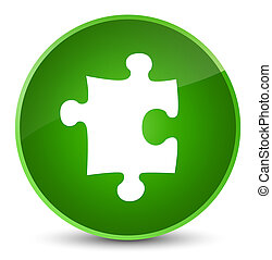 Puzzle icon elegant green round button