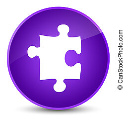 Puzzle icon elegant purple round button