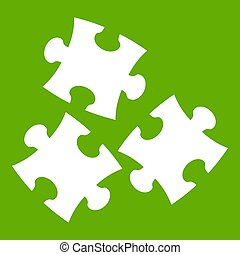 Puzzle icon green