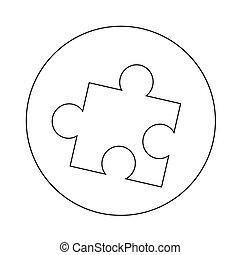 puzzle icon illustration design
