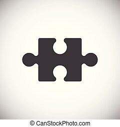 Puzzle icon on background for graphic and web design. Simple vector sign. Internet concept symbol for website button or mobile app.