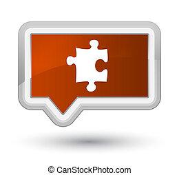 Puzzle icon prime brown banner button