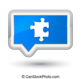 Puzzle icon prime cyan blue banner button