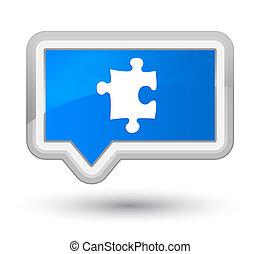 Puzzle icon prime cyan blue banner button