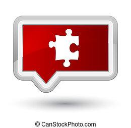 Puzzle icon prime red banner button
