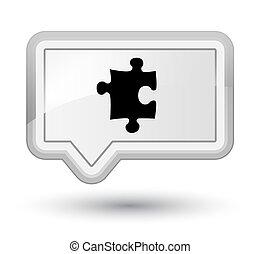 Puzzle icon prime white banner button