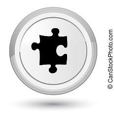 Puzzle icon prime white round button