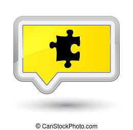 Puzzle icon prime yellow banner button