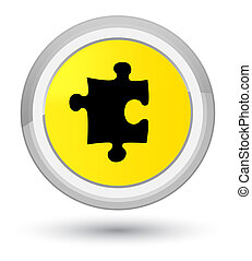 Puzzle icon prime yellow round button