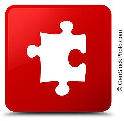 Puzzle icon red square button
