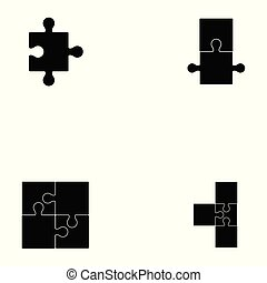 puzzle icon set