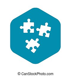 Puzzle icon, simple style