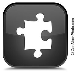 Puzzle icon special black square button