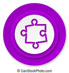 puzzle icon, violet button