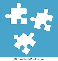 Puzzle icon white