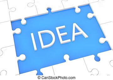 Puzzle Idea concept