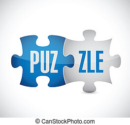 puzzle illustration design