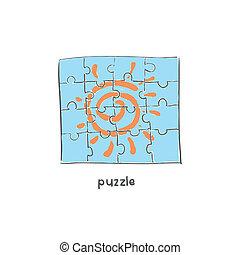 Puzzle. Illustration.