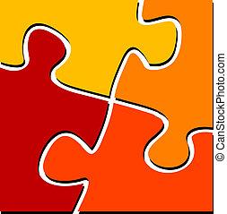 Puzzle - illustration of puzzle pieces