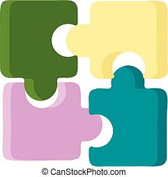 Puzzle illustration vector on white background