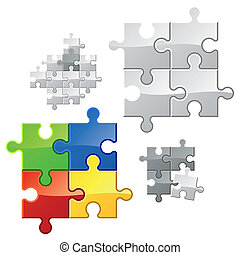 Puzzle - You may easy duplicate parts for expansion