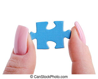 puzzle in hand