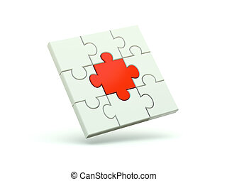 Puzzle isolated on white
