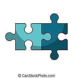 puzzle, jeu, dessin animé