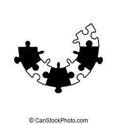 puzzle jigsaw cooperation concept