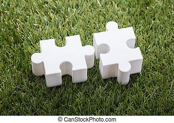 puzzle, jigsaw, due, vista elevata