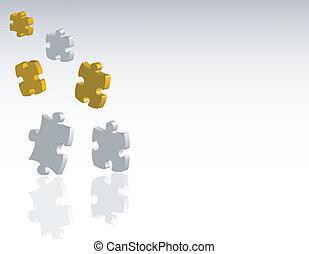 puzzle, jigsaw, fondo