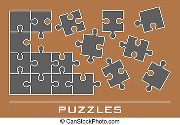 puzzle, jigsaw, icone