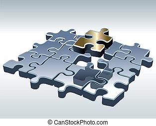 puzzle, jigsaw, set