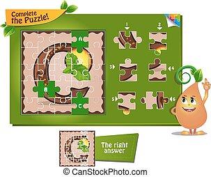puzzle letters of the alphabet c
