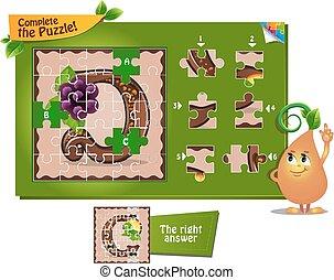 puzzle letters of the alphabet D
