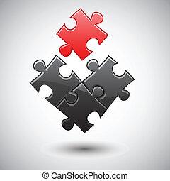 puzzle, lit