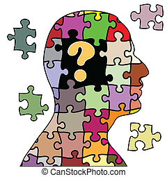 Puzzle man - Illustration of a man puzzle on a white ...