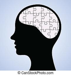 puzzle, mente