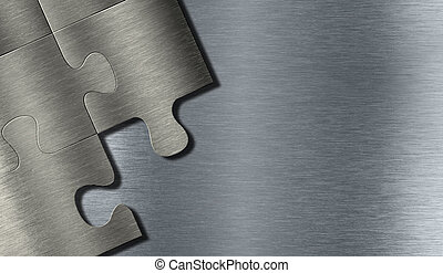 puzzle, metallo, pezzi