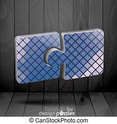 puzzle, moderno, sagoma